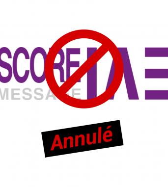 Score IAE Message – session 26 mai annulée
