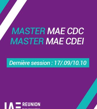 Candidature aux Masters MAE : Dernière session (17.09/10.10)