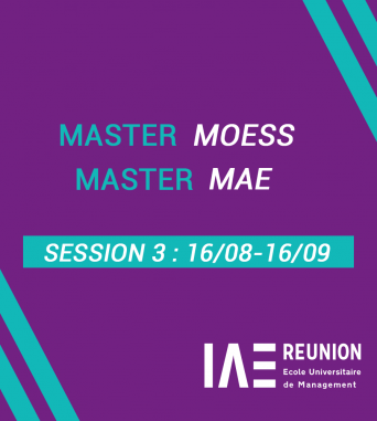 Candidature aux Master MAE et MOESS : Session 3 (16/08-16/09)